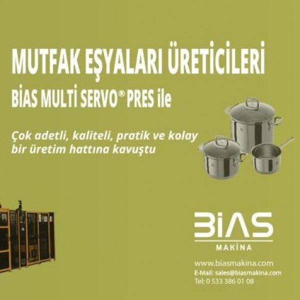 Kitchenware Manufacturer's work is much easier with BİAS Multi Servo Press.